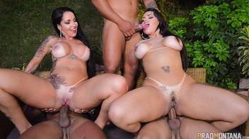 Orgia das estrelas porno brasileiras gostosas